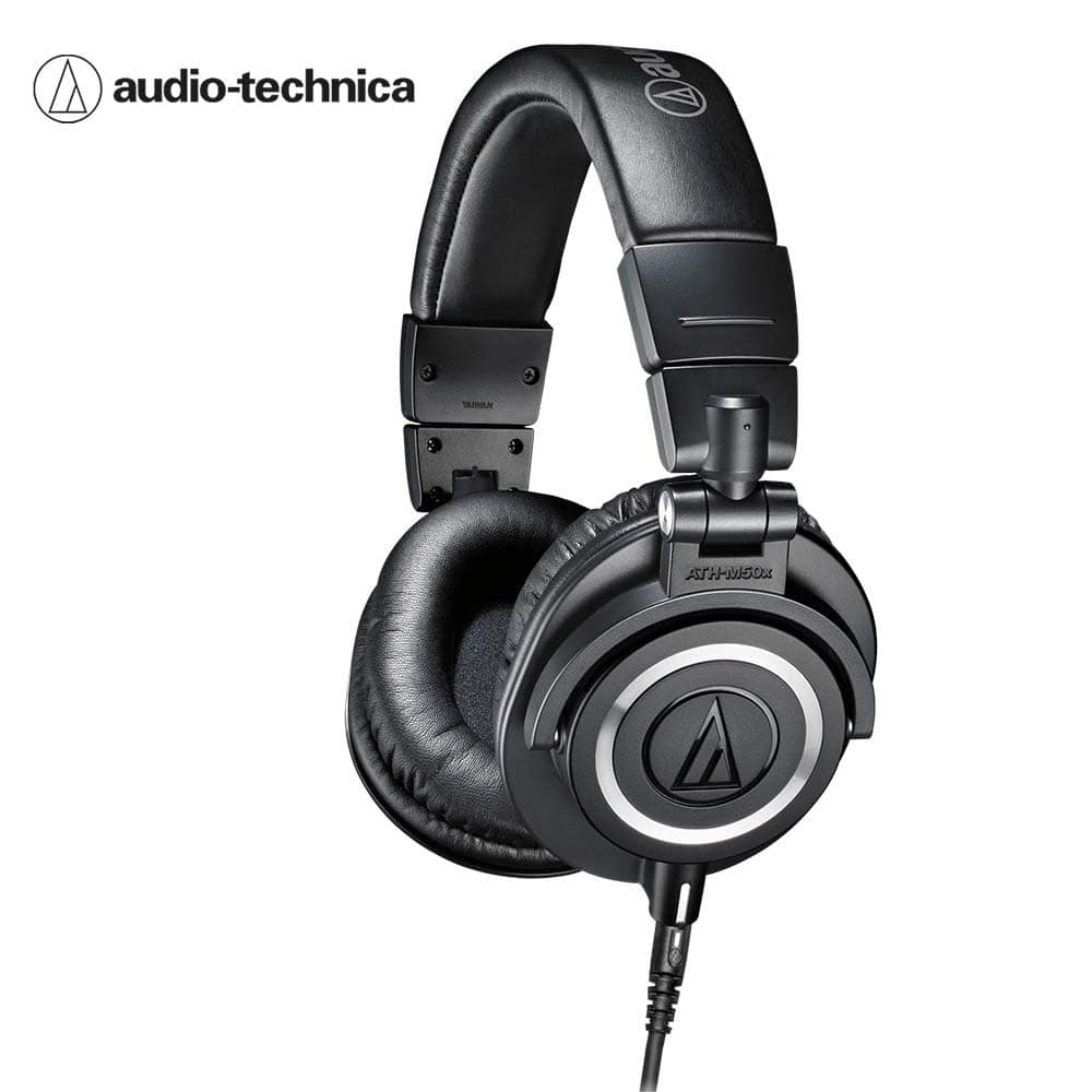 오디오테크니카 M50X 헤드폰 검정색 Audio-technica ATH-M50x Black Professional monitor headphones