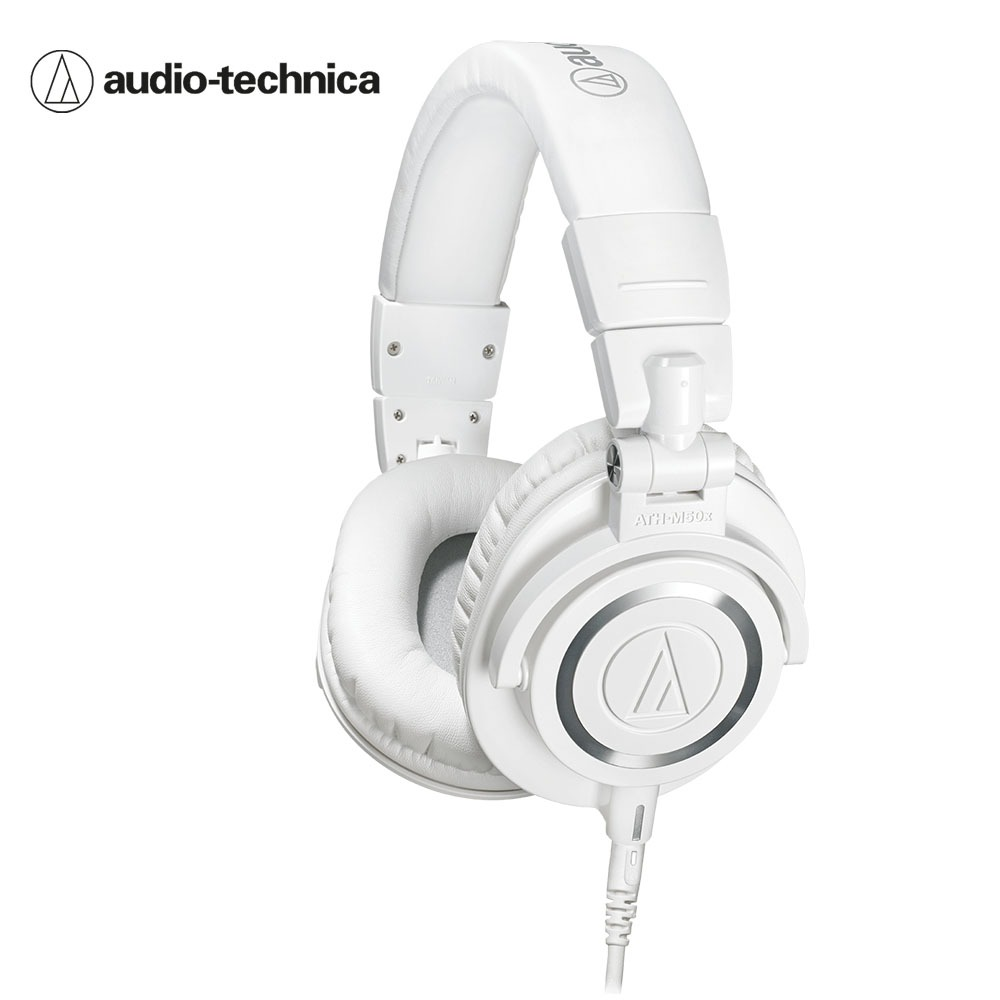 오디오테크니카 M50X 헤드폰 흰색 Audio-technica ATH-M50x White Professional monitor headphones
