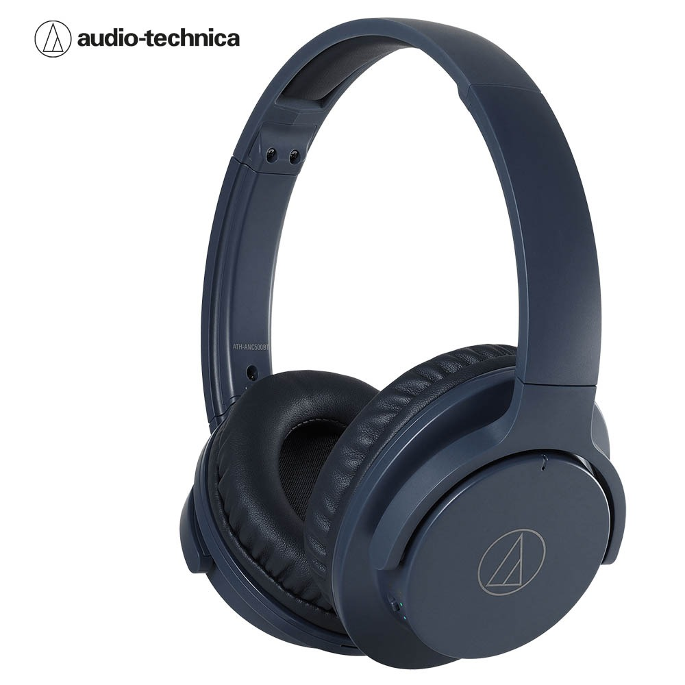 오디오테크니카 ANC500BT 블루투스 헤드폰 네이비블루색 Audio-technica ATH-ANC500BT Wireless Noise-Cancelling Headphones Navy Blue