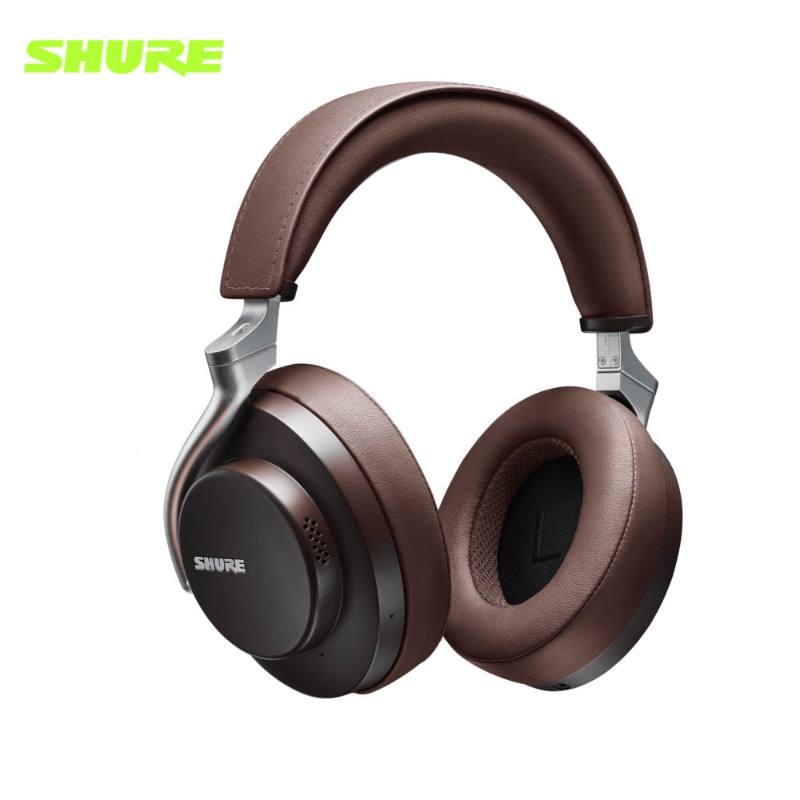 슈어 AONIC50 블루투스 헤드폰 갈색 Shure AONIC-50 Wireless Noise Cancelling Headphones Brown 정품
