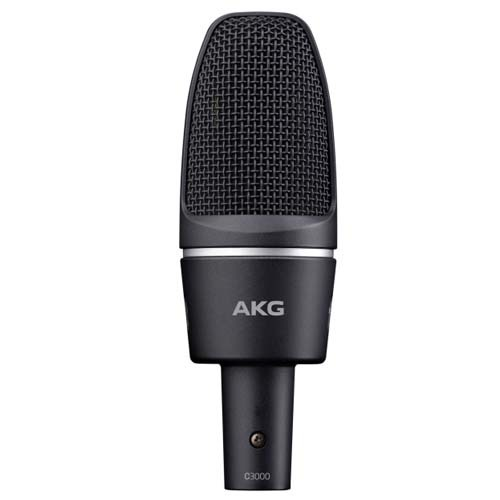 AKG C3000 콘덴서마이크 검정색 AKG C-3000 High-performance Large-Diaphragm Condenser Microphone 수입정품